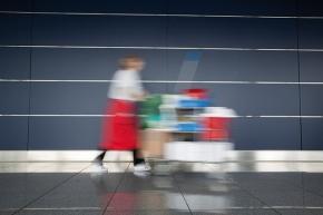 Hotellstädare stressar för att hinna med jobbet