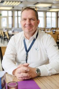 Claes Dahle, servicechef för restaurangerna på Forsmark.