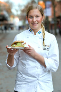 Sara Molin tävlade i Mack-SM med hembakat glutenfritt bröd.