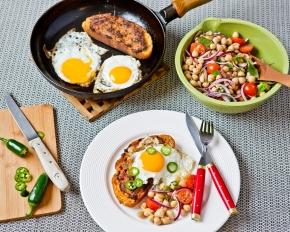 Kryddiga parisare med ägg