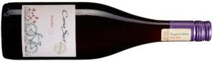 2015 Cono Sur Pinot Noir Organic, Chile, 4641, 95 kr, 750 ml Färsk dragon, röda vinbär, körsbär och saltpastiller kantas av ceder och ljus choklad, därtill frisk syra. Vardagsvin till pasta.
