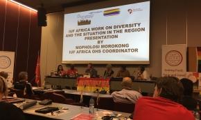 Global facklig kongress diskuterar rättighetsfrågor