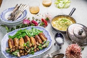 Huvudrätt: Kycklingjärpar med vårgrönsaker