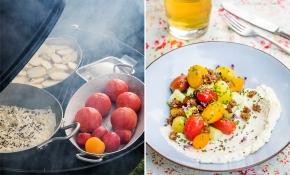 Dansk tomatsallad med rökt färskost