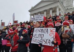 Finska fack strejkar mot försämringar