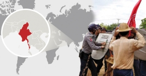Fackliga fängslade i Burma