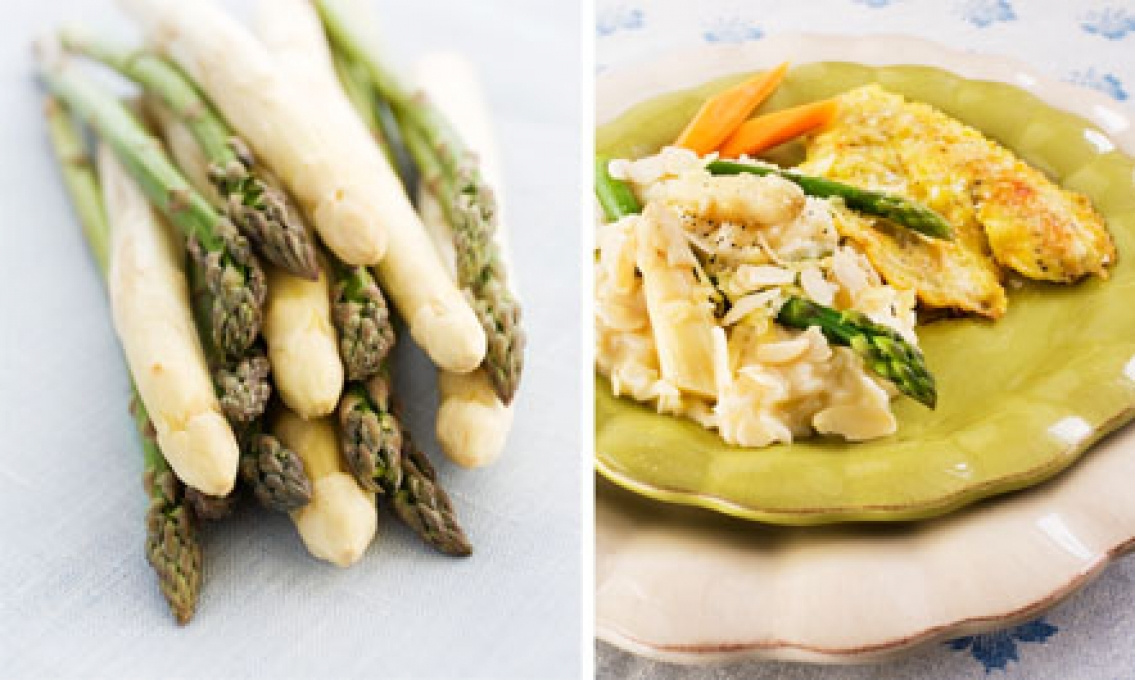 Recept: Sparrisrisotto och  citronsparris med skinka