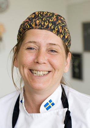 Maria Lindström, kock på Svalnäs.
