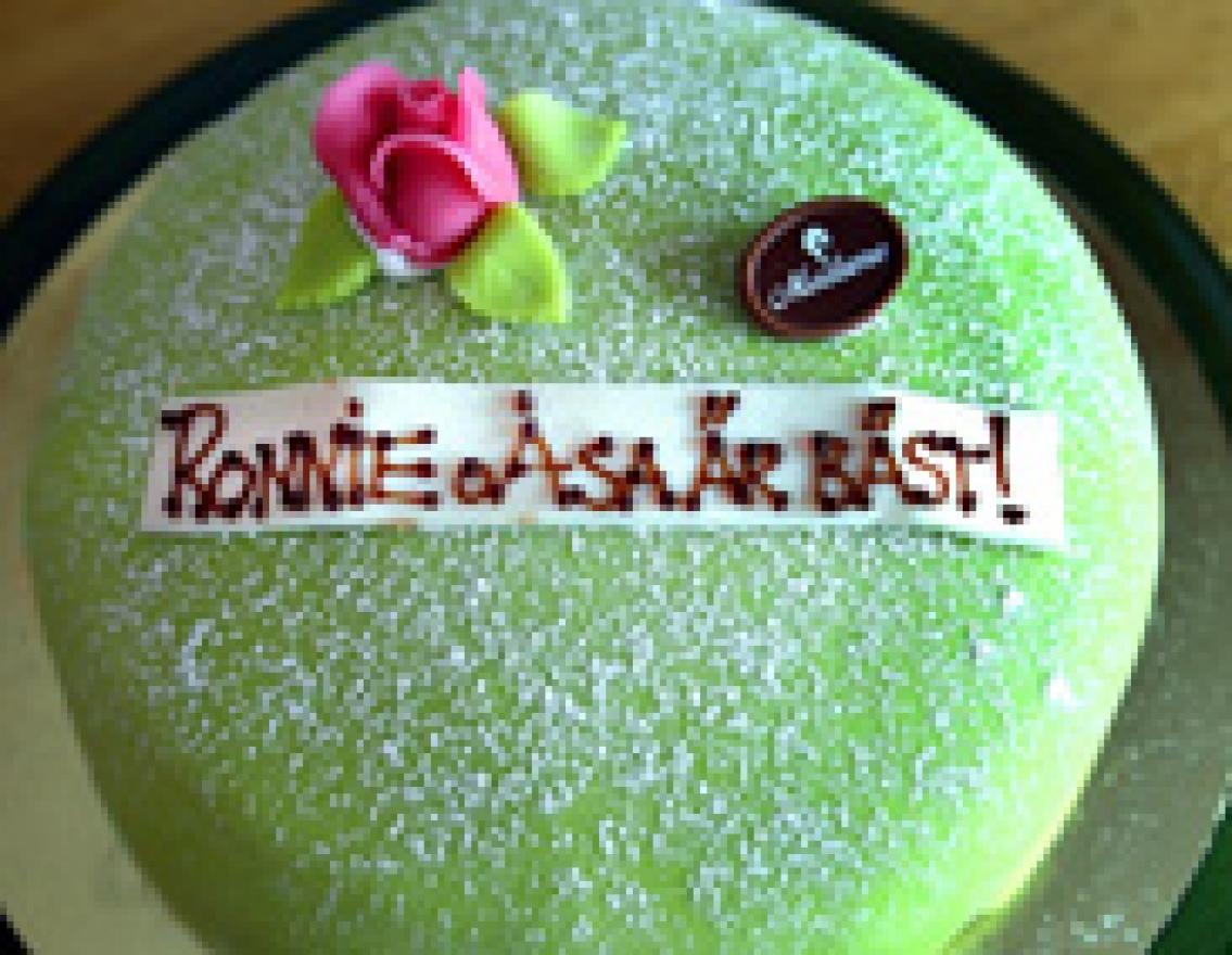 Tårta till radarparet  Åsa och Ronnie