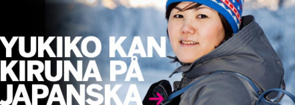 Yukiko är hemma i Kiruna