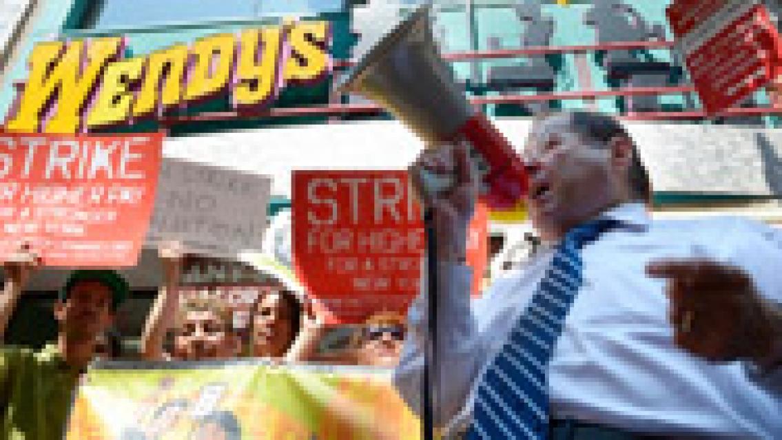 Stor strejk i USA:s  snabbmatsvärld