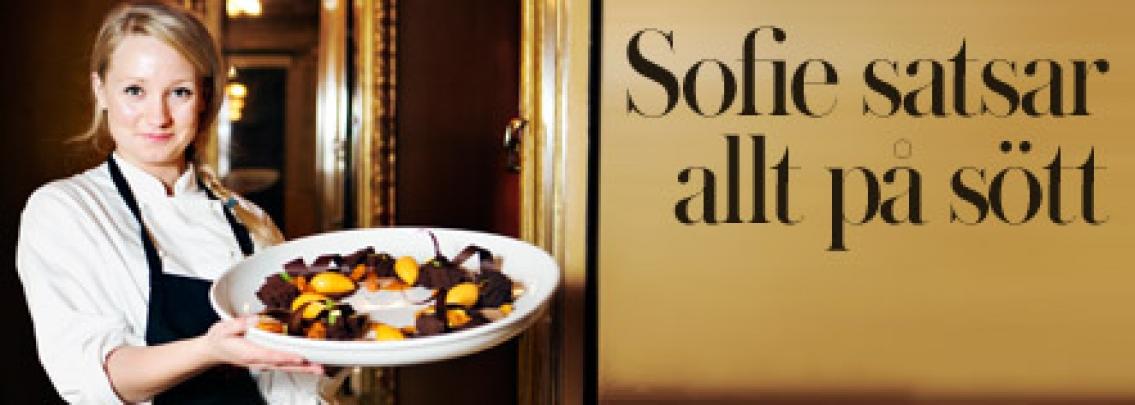 Sofie ger allt för dessertkonsten