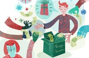 Vill inte skramla till chefens julklapp!